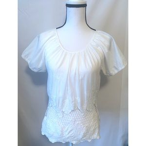 Andree size small white blouse